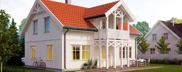 Dette er en av våre mest bygde eneboliger. Det klassiske, sveitserinspirerte uttrykket, passer de fleste boligområder. Huset har tre store soverom.