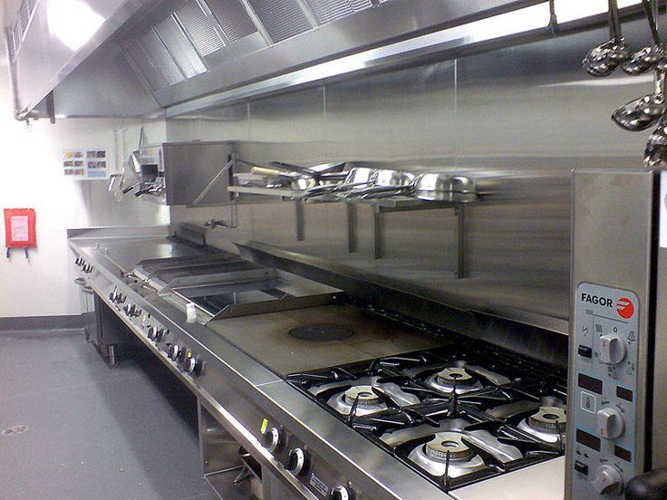 Solid Top Kitchen Burner Next To Open Flame Burner