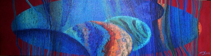 "Carina Aprile, ""TAPIZ TINTO""  Painting on Canvas"