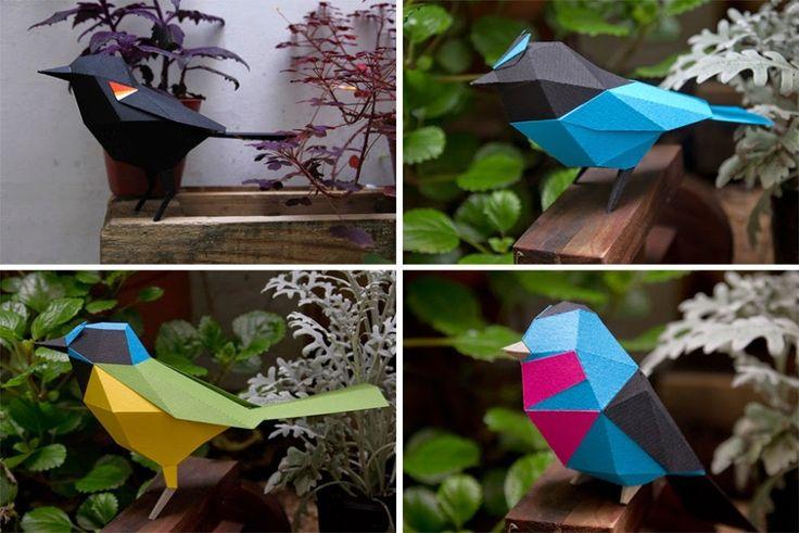 Звериная геометрия: бумажные животные от Estudio Guardabosques (Аргентина)