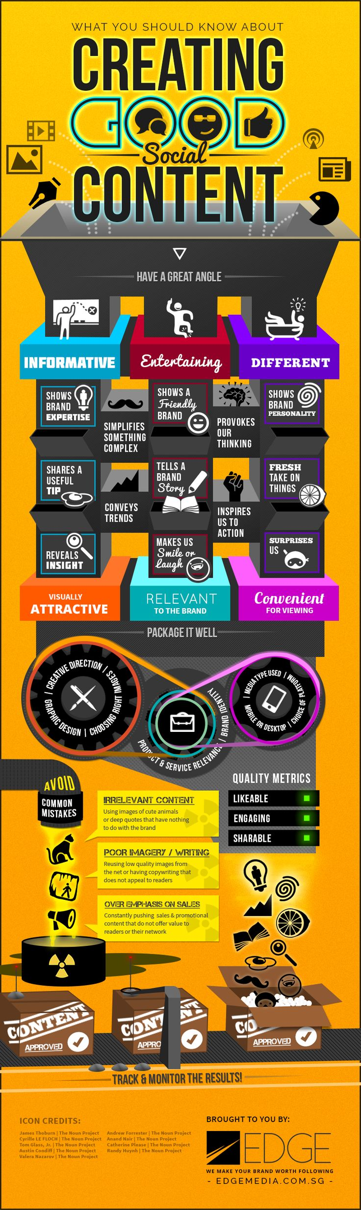 """☠☠☠™ """"Content is King"""" Creating good social content - Static #Infographic - Infographics.SG"""