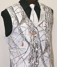 Camo Tuxedos for Weddings | Formal Camo! - Winter Snow White RealTree Hardwoods Camouflage Vest ...