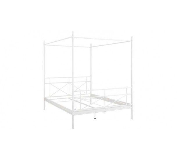 Tanja Sengeramme Hvid 180x200 - Hvid metal seng