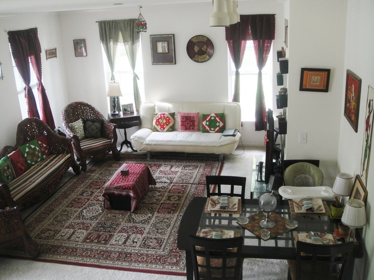 My Indian Inspired Living Cum Dining Room In My Rental Place Almost Everything Here Is From