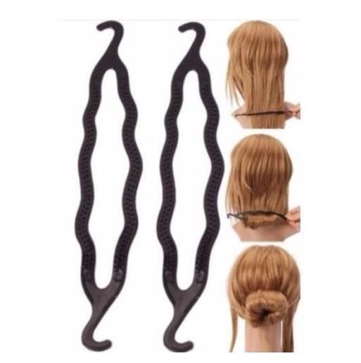 Hair Accessories Bun Maker Braid Tool 2 PC Twist Styling Clip Stick