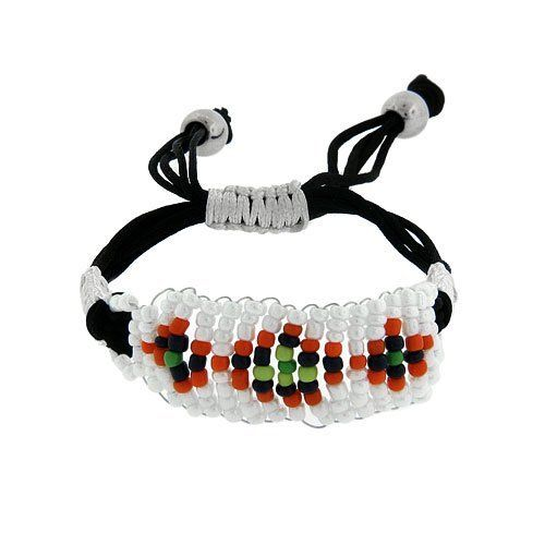 40 Cord Tribal Theme Black White Aiza Jewelry Collection. $4.00. Beaded Bracelet