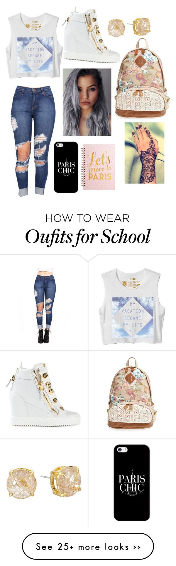 """Another school girl"" by taryngallion on Polyvore"