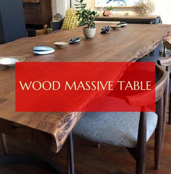 Wood Massive Table Massiver Holztisch Dining Table Design Modern Dining Table Design Dining Table