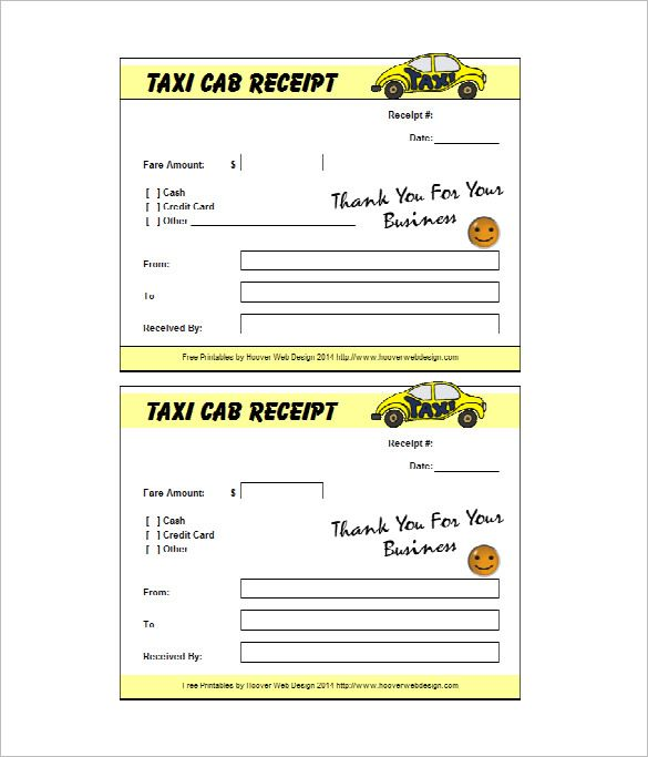 Taxi Receipt Template – 12+ Free Word, Excel, PDF Format Download! | Free & Premium Templates