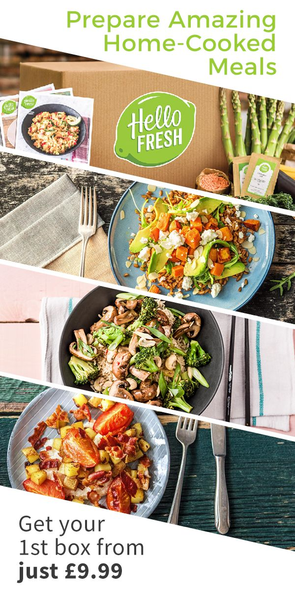 Introducing a fresh take on dinnertime for 2017! Let HelloFresh bring the spark back to your meals! ➜ Get all of the fresh ingredients to cook 3 delicious recipes for 2 people from just £9.99 plus free delivery! Limited time for the offer!
