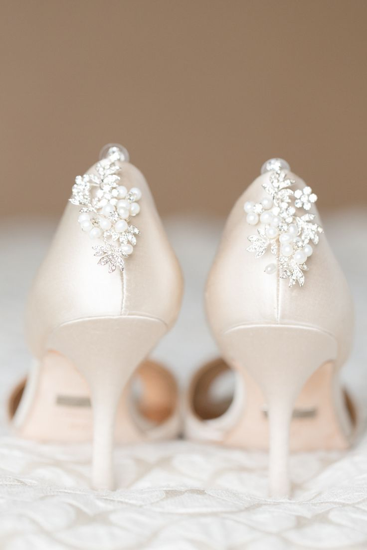 Pearl-backed heels | Read More: http://www.stylemepretty.com/2014/07/14/glitter-wedding-at-the-citrus-club/ | Photography: Amalie Orrange Photography - amalieorrangephotography.com