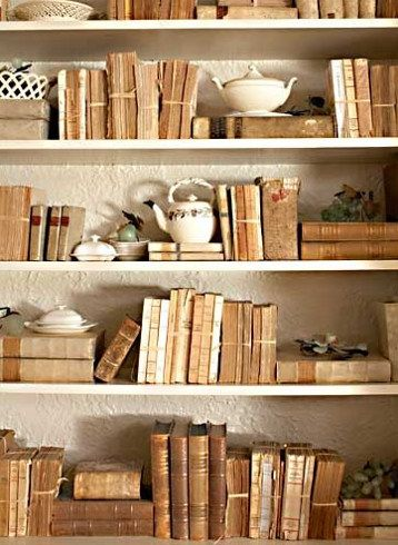 I would love to have a bookcase full of old books