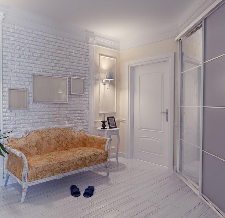 Белый кирпич особенно ценится, ведь за счет цвета он не только дает стене красивый рельефный вид, но и позволяет визуально увеличить и осветлить пространство. Неудивительно, что для коридоров и прихожих, которые крайне редко бывают просторными и светлыми, такой способ декора стен будет оптимальным.