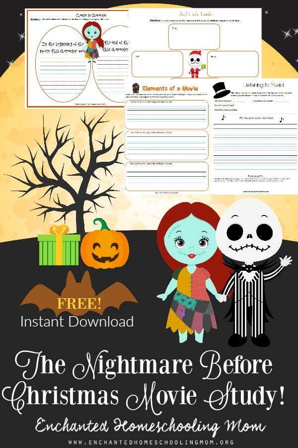 Get ready to learn all about movies, the movie making process, and more by diving into the Nightmare Before Christmas with my FREE The Nightmare Before Christmas Movie Study. Get your FREE copy today!