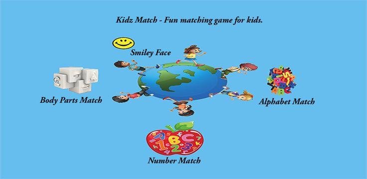 """Kidz Match"" is an educational app for children that helps"