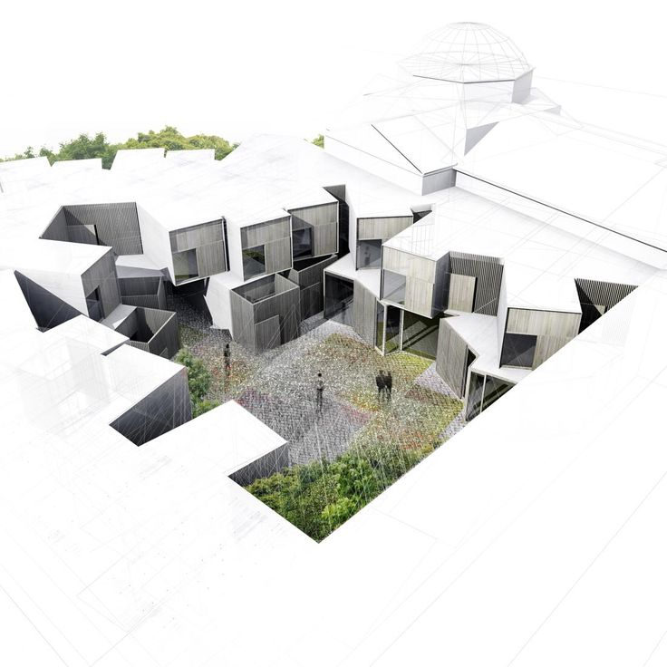 HIC*: Amann-Cánovas-Maruri Arquitectos | Hospedería en Extremadura  Really good representation