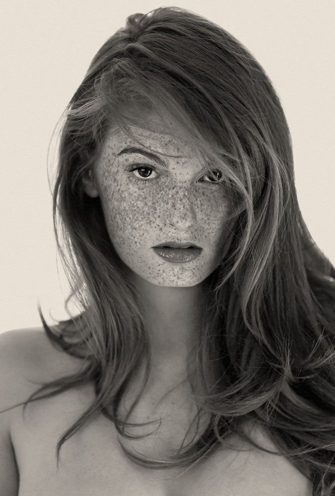 """His fascination with freckles ledReto Caduff, a Los Angeles-based photographer, to capture scores of prettily pigmented women. """"I've always liked freckles,"""" he says, """"but working on shoots over the years, I noticed that they usually get covered with makeup or digitally removed in post-production. So I decided to celebrate the spots rather than erase them."""" The resulting project, a limited-edition tome of black-and-white portraits called """"Freckles"""""""