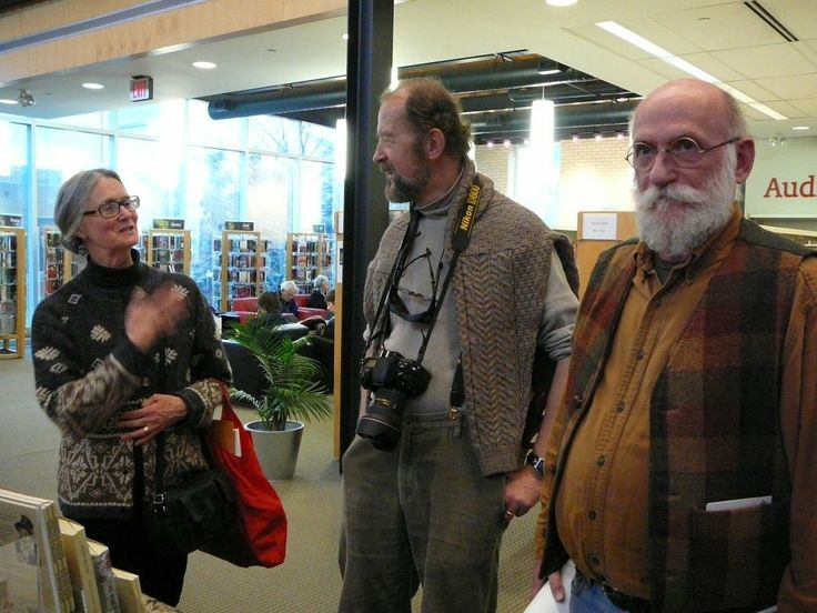 Anne Sutherland, James Sutherland, and Stan Bevington. Photo by Don McLeod.