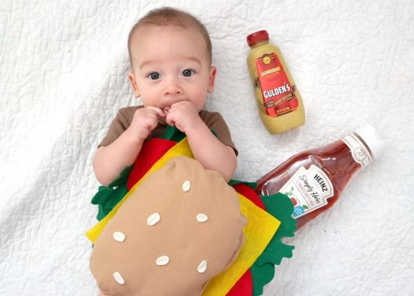 Juicy Baby Cheeseburger Costume with tutorial #halloween