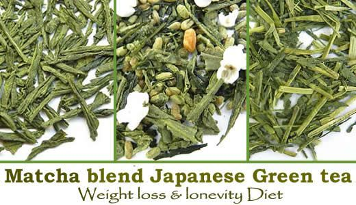Matcha Blend Japanese Green tea. Fat burner and weight loss diet.  Matcha makes
