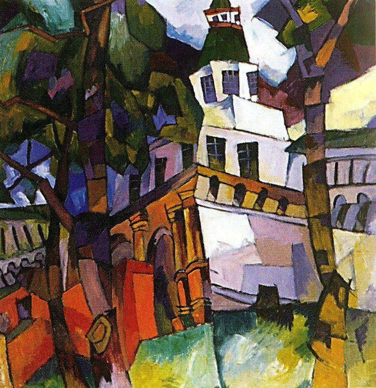 AV Lentulov - The Gate to the Tower, New Jerusalem
