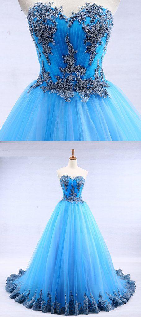 Prom Dress For Teens Bright Blue Prom Dress Senior Prom Dress With