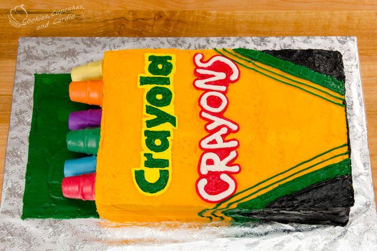 Crayola Crayon Cake