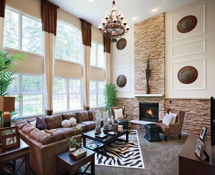 Townhouse Family Room Ideas Part - 31: New Home Family Room Décor Ideas.Toll Brothers - Soaring Two-story Family  Room With Ample Space For Entertaining.