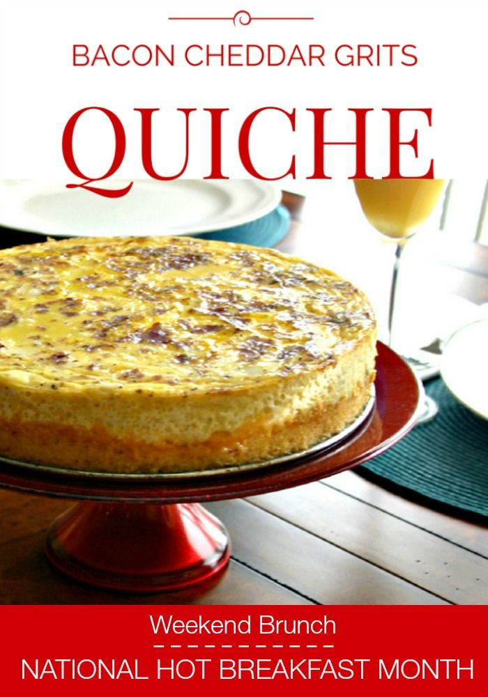 Bacon Cheddar Grits Quiche | Life, Love, and Good Food #recipe #eggs
