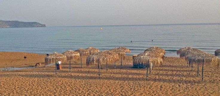 Stalos beach in Western Crete