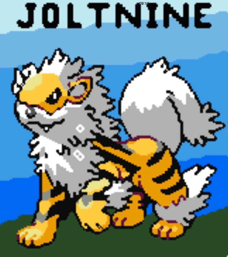 This is my second fusion and it's a fuse between Jolteon and Arcanine.