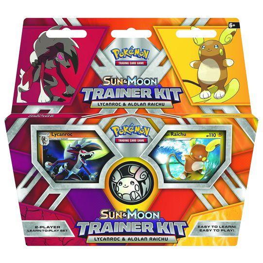 Sun & Moon Lycanroc & Alolan Raichu Trainer Kit - Pokemon Trading Card Game