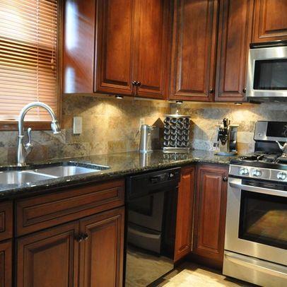 Kitchens With Uba Tuba Granite And Maple Cabinets