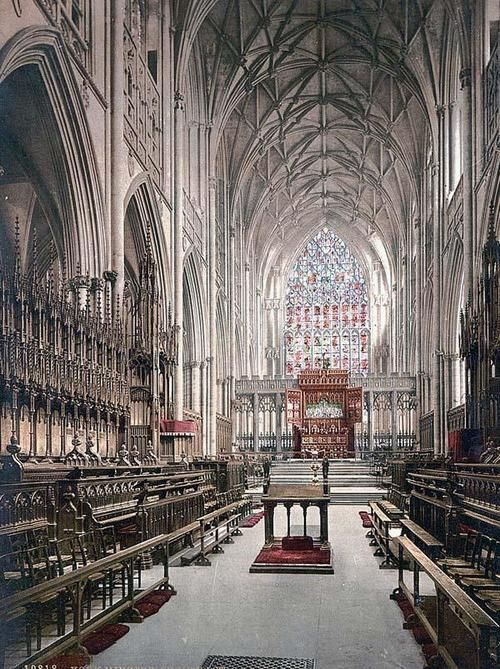 The Interior of York Minster Cathedral, York, UK