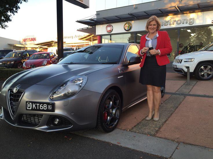 Kym picking up her new Alfa Romeo Giulietta QV...