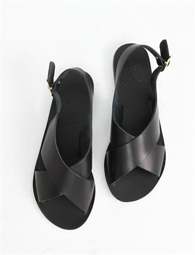 Ancient Greek Sandals Maria- Black | Follow us on Insta // @smtofficial x