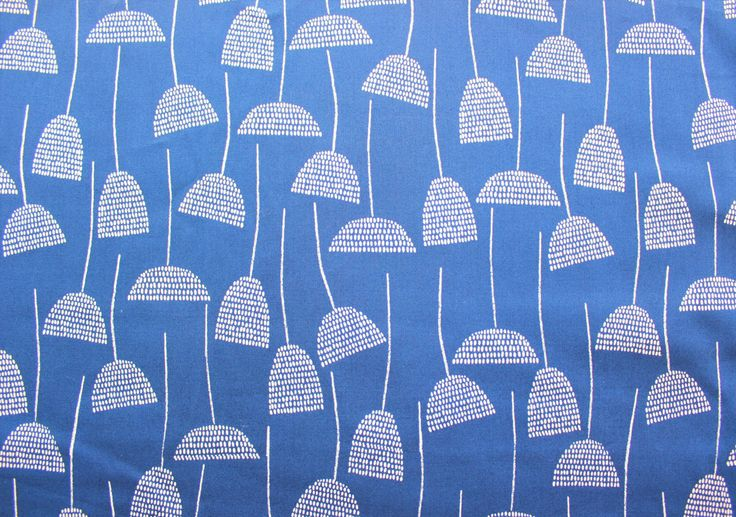 Eloise Renouf / Threads / Cloud 9 Fabrics / Organic Cotton / Navy Blue / Quilting Crafting Sewing/ Supplies / Half Metre by TCRFabricStore on Etsy