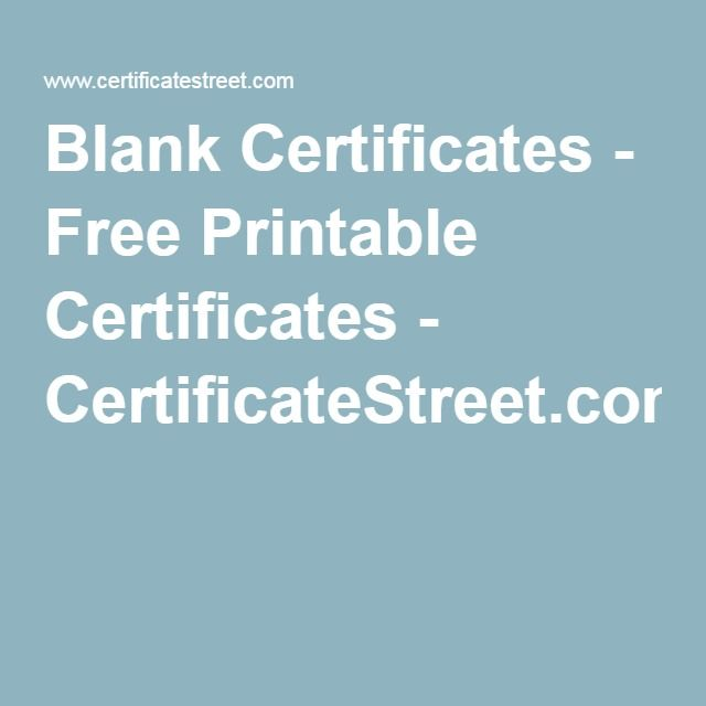 Best 25+ Free certificates ideas on Pinterest Student awards - free award certificates