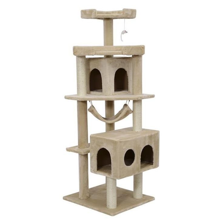 Pawhut Tree Scratcher Post Cat Condo