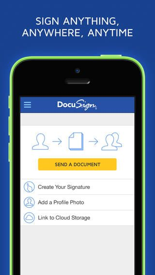 Sign anything, from anywhere, at anytime with DocuSign: https://itunes.apple.com/us/app/docusign-ink-sign-pdf-documents/id474990205