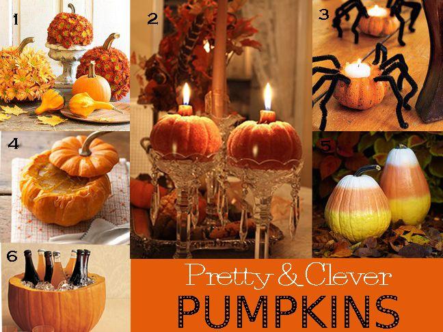 Diy autumn pumpkins and leaves for Fall pumpkin decorating ideas