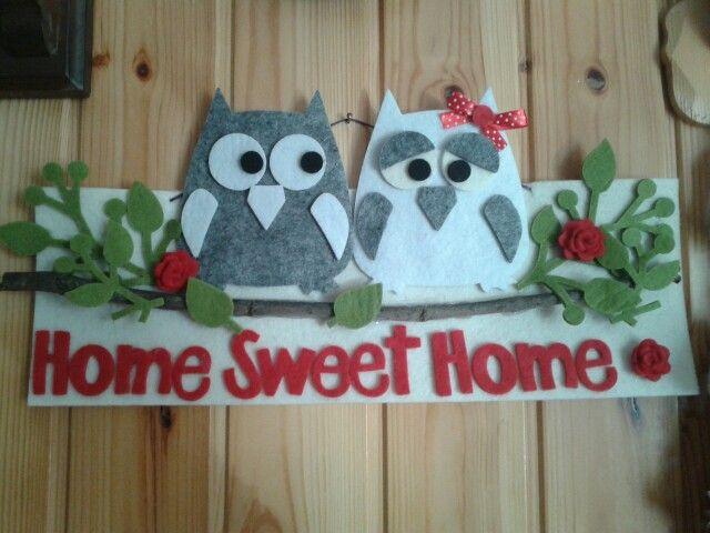 Fuoriporta Home sweet Home in feltro personalizzabile nei colori e nelle scritte