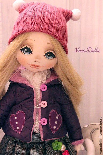 Iris - фиолетовый,кукла,кукла ручной работы,кукла в подарок,кукла текстильная