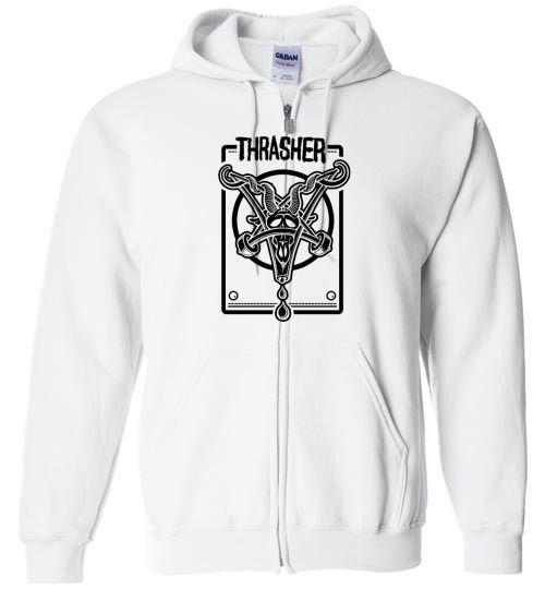 37f31a0a2c3 Amazing Thrasher Logo Unisex zip hoodie