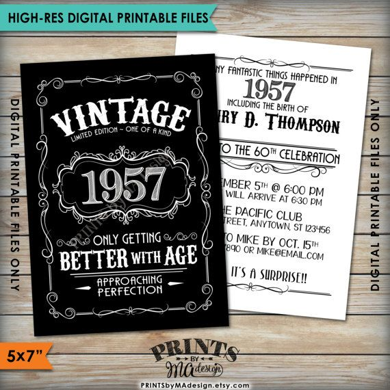 Aged to Perfection Vintage Birthday invite, 50th 60th, 70th any year Better with Age Whiskey Liquor Birthday Invitation https://www.etsy.com/listing/481711949/vintage-birthday-invitation-aged-to <<{PRINTS} by MA Design>>  https://www.etsy.com/shop/PRINTSbyMAdesign/items?search_query=vintage+birthday