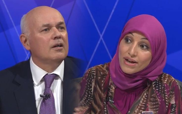 """Iain Duncan Smith gets OWNED and called a """"scrounger"""" by Salma Yaqoob on..."""