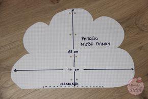 Tutorial cojín con forma de nube de minky - El mundo de Helen