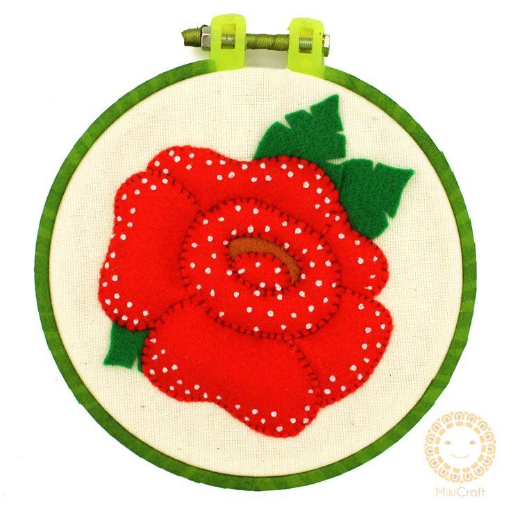 Hoop art ~ Rafflesia Arnoldii 14 cm. Store : https://www.instagram.com/mikicraft/