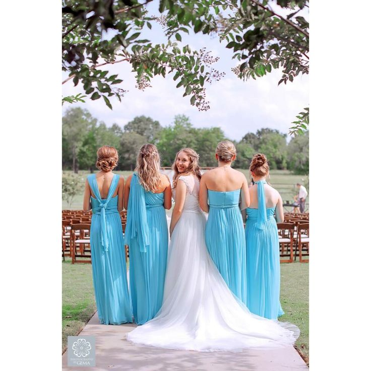 Bridesmaids on the Wedding Day