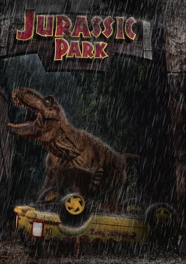 Jurassic Park - T-rex Main Road Attack by tomzj1.deviantart.com on @deviantART